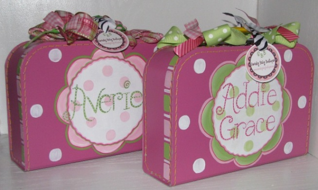 Mini Suitcase Personalized-  Pinkberry