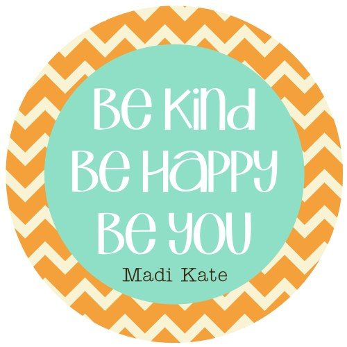 Be Kind Chevron Plate- More Colors!