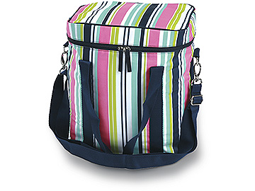 Preppy Navy Stripe Large Cooler