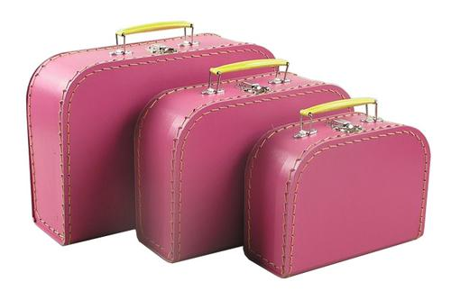 Mini European Suitcases- Pinkberry SMALL SIZE ONLY