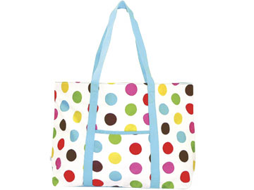 Polka Dot Large Tote Bag
