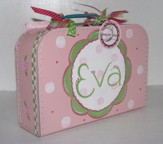 Mini Suitcase Personalized- Orchid Pink